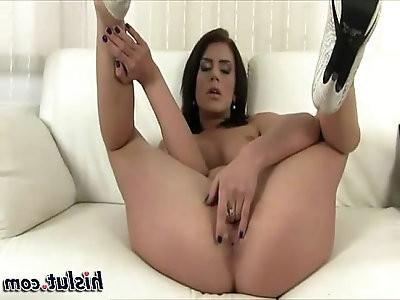 This slut is masturbating