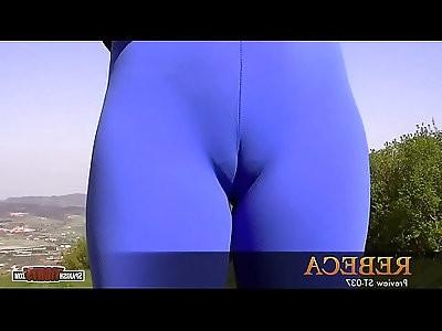 Sweet tiny body. blue cameltoe
