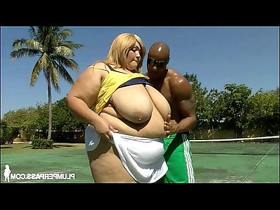 Sexy super bbw anastasia fucks her stud trainer