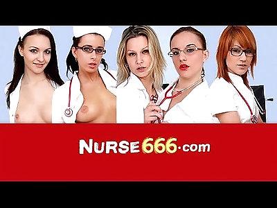 Hot blonde Lilith Lee nurse uniform and cunt on close ups