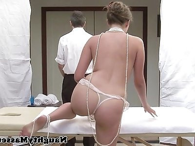 Allie Haze on massage table wants cock