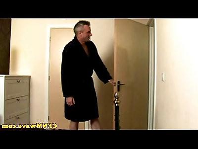 Euro CFNM milfs tugging his cock