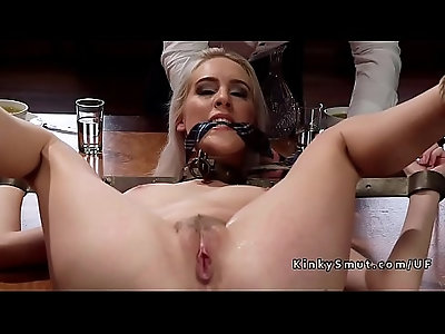 Two blonde fucked in threesome
