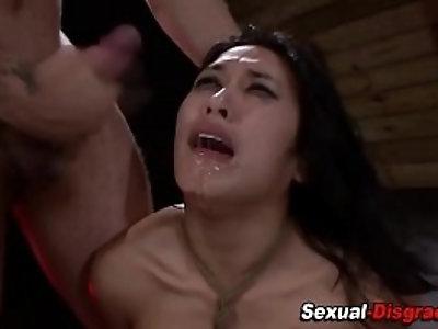 Fucked slave gets facial