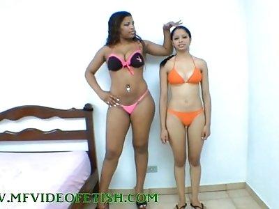 Big Brunette teen Girl Destroying Girls Between her Legs