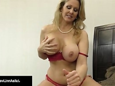 Julia Ann, World Famous Milf, Strokes Sucks A Cock in Bed!