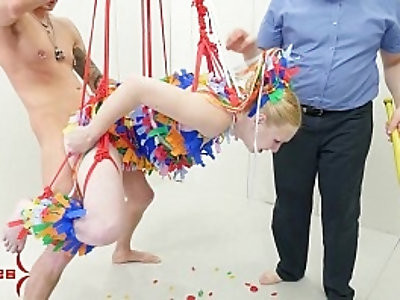 Anal pinata girl gets brutal punishment