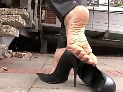 Smoking and Shoeplay in Park
