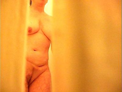 Mom Caught Masturbating in Shower Hidden cam