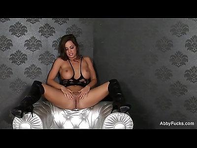 Abigail mac dildos herself