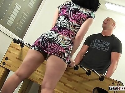 Belle Noire Gets Sucked Sucks And Fucked In The Game Room