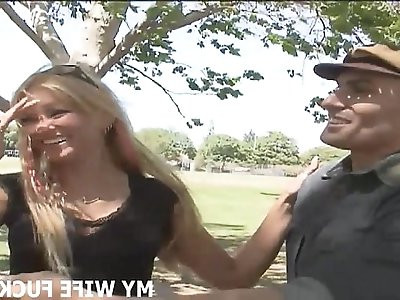 Watch your wife get fucked by a big cocked male pornstar