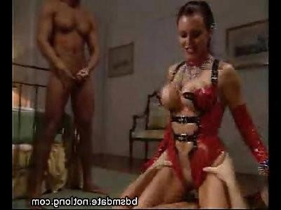 Hot Mistress Abusing Her Slaves