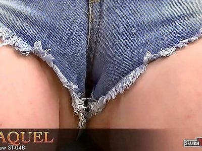 Raquel in tight cutoffs
