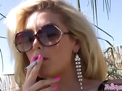 Heather Vandeven smokes and fingers herself Twistys