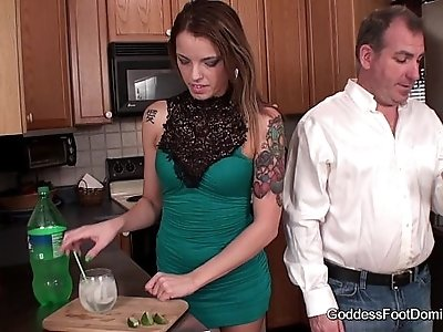 Footjob Babysitter wants Mr. Smith to herself