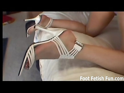 Lick my toes and I will jerk you off with my feet